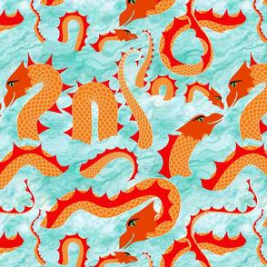Sea Serpents at Play
