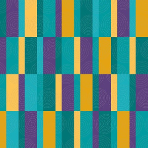 Stitched Rectangles and Bars Quilt in Crypto Colors-01