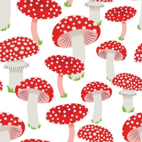 Magic Toadstools (White) - Extra Large Scale