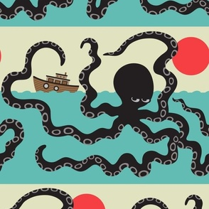 Japanese Giant Octopus Sea Monster Akkorokamui Cryptozoology - LARGE-Scale - UnBlink Studio by Jackie Tahara