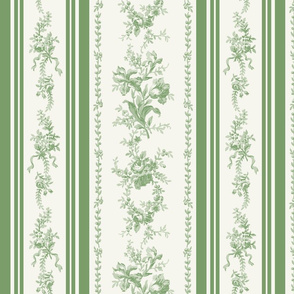 Belevedere Floral Stripe ~ Custom Green