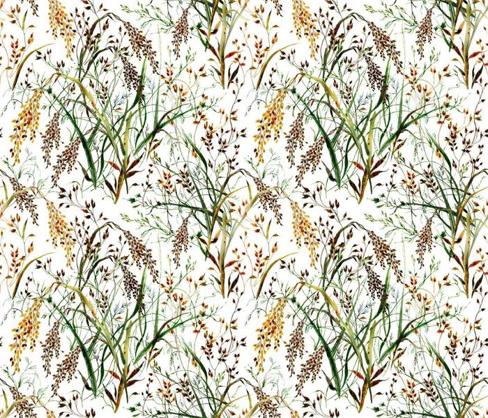 Wild Grasses in Watercolor