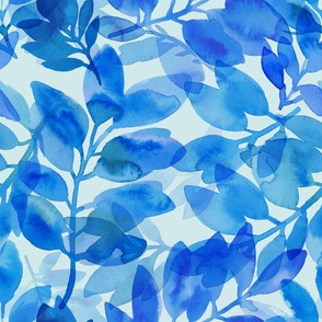 Blue Leaves overlay pattern