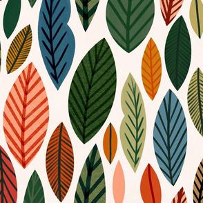 Bright Leaves, Lg by Ehpopoki