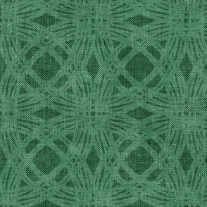 Simple Circles on Coarse Linen in Soft Moss Green