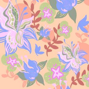 blooming spring_retro