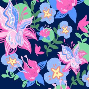 blooming spring navy