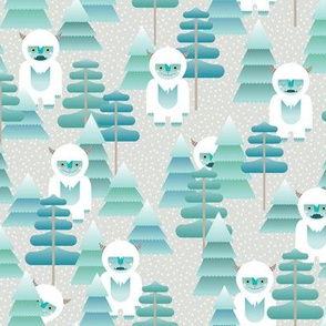 yeti in the forest - small