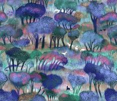 Enchanted Forest with Dragons, Unicorns, Jackalope, Werwolve, jackalopes