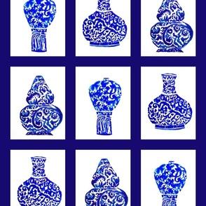 porcelaine chinoise pots bleu