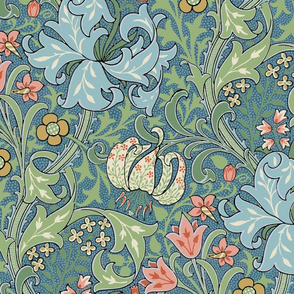 Golden Lily Color ~ The William Morris Collection ~ Custom Teal