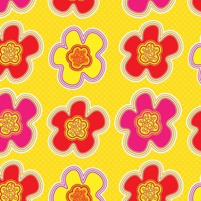 Beach Flowers - Yellow