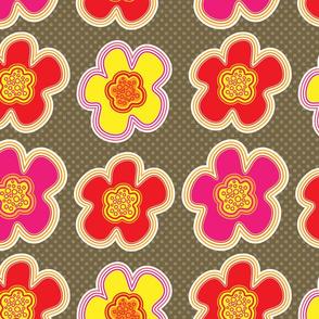 Beach Flowers - Brown