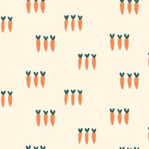 Small Carrots Trio on Cream