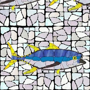 Mosaic Stained Glass Tuna wB
