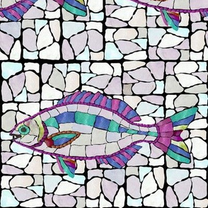 Mosaic Stained Glass Style Chub