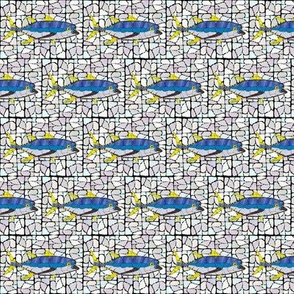 Mosaic Stained Glass Tuna Sm wb