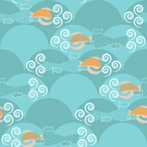 Mermaids Swimming Laps