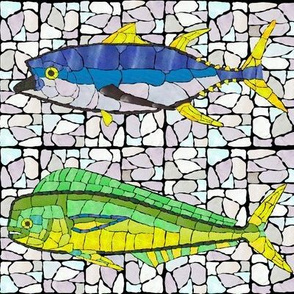 Mosaic Glass Mahi and Tuna Alternating
