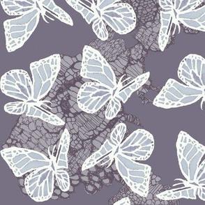 butterflies on lace