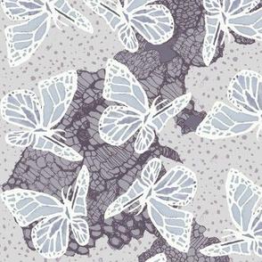 butterflies on lace dots