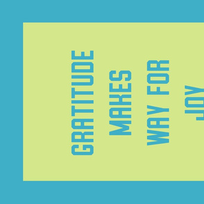 """""""Gratitude"""" Banner in Candy Aqua and Green"""