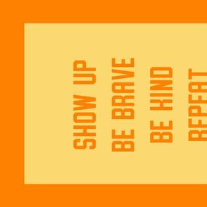 """""""Repeat"""" Banner in Candy Orange and Yellow"""