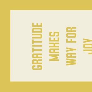 """Gratitude"" Banner in Collegiate Yellow"
