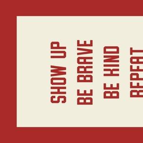 """Repeat"" Banner in  Collegiate Red"