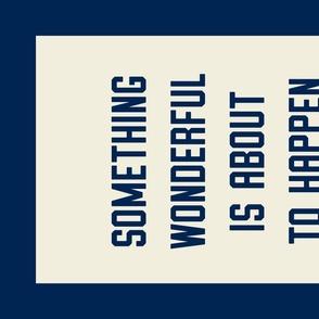 """Wonderful"" Banner in Collegiate Blue"