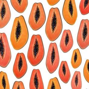 Happy and Healthy Papaya  Energy Wallpaper