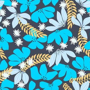 Spring Floral Blue