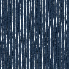 white stripes on navy