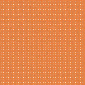 Tiny Ice Blue Dots on grain orange