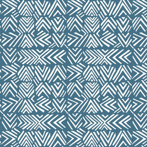 Afro chic arrows blue
