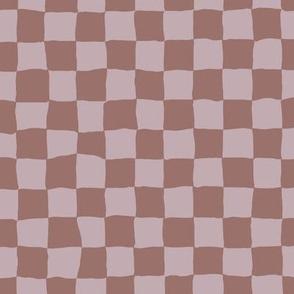 Roller Rink Checkerboard - Burlwood