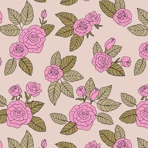 Romantic bohemian rose garden english roses nursery design pink olive green blush