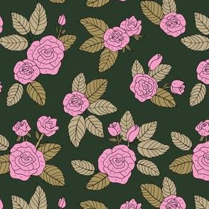 Romantic bohemian rose garden english roses nursery design pink olive green ocean dark green