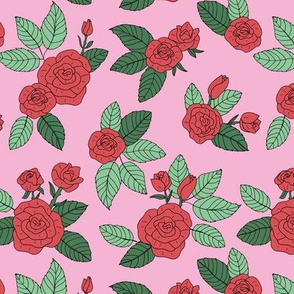 Romantic bohemian rose garden english roses nursery design pink mint green red