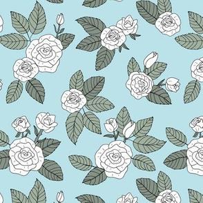 Romantic bohemian rose garden english roses nursery design soft blue sage green white