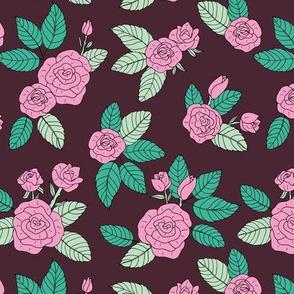 Romantic bohemian rose garden english roses nursery design burgundy pink green