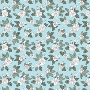 Romantic bohemian rose garden english roses nursery design soft blue sage green white SMALL