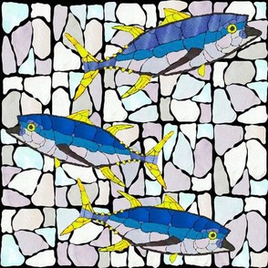 Mosaic Glass Tunas