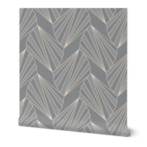 modern art deco geometry grey