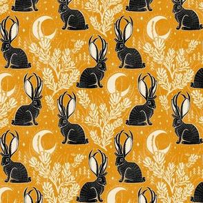 Jackalope - small - marigold & black