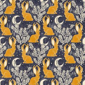 Jackalope - medium - midnight marigold