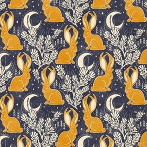 Jackalope - small - midnight marigold