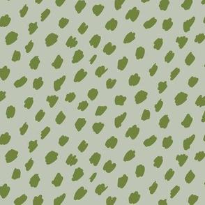 Small Sage Green Artistic Dots