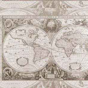 Beige Antique Map