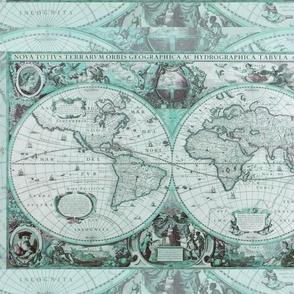 Aqua Antique Map